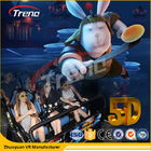 Safety Theme Park Roller Coasters 5D Movie Theater With Hydraulic System For film